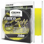 Linha Crown Fiber Soft Amarela 0,23mm - 11 lbs 250m