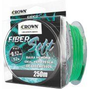 Linha Crown Fiber Soft Verde 0,52mm - 52 lbs 250m