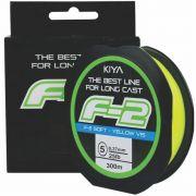 Linha Kiya F-2 0,37mm - 300M - Linha Monofilamento Soft
