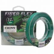 Linha Multifilamento Crown Fiber Flex 0,30mm - 100m
