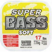 Linha Super Bass Soft 0,330mm 17lb Monofilamento Amarela 250m