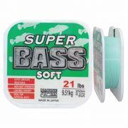 Linha Super Bass Soft 0,370 mm 21lb Monofilamento Verde 250m
