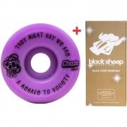 Roda Chaze 52mm 101A Menace + Rolamento Black Sheep Gold