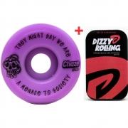 Roda Chaze 52mm 101A Menace + Rolamento Dizzy Rolling