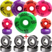 Roda De Skate Derock 53mm 95A Play + Rolamento