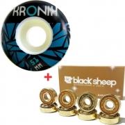 Roda Kronik 51mm 98A + Rolamento Black Sheep Gold