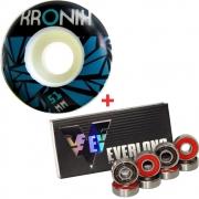 Roda Kronik 51mm 98A + Rolamento Everlong