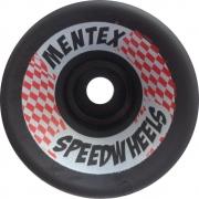 Roda Mentex Speed Wheels 70mm 85A Preta