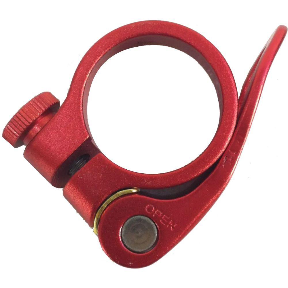 Abraçadeira de Selim TSW 34,9mm Vermelha Com Blocagem