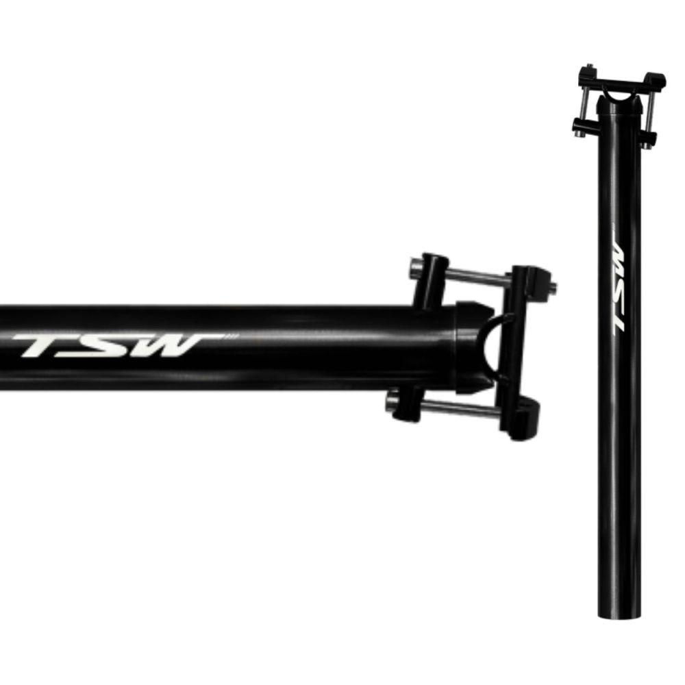 Canote TSW 31.6 Anodizado 400mm Preto