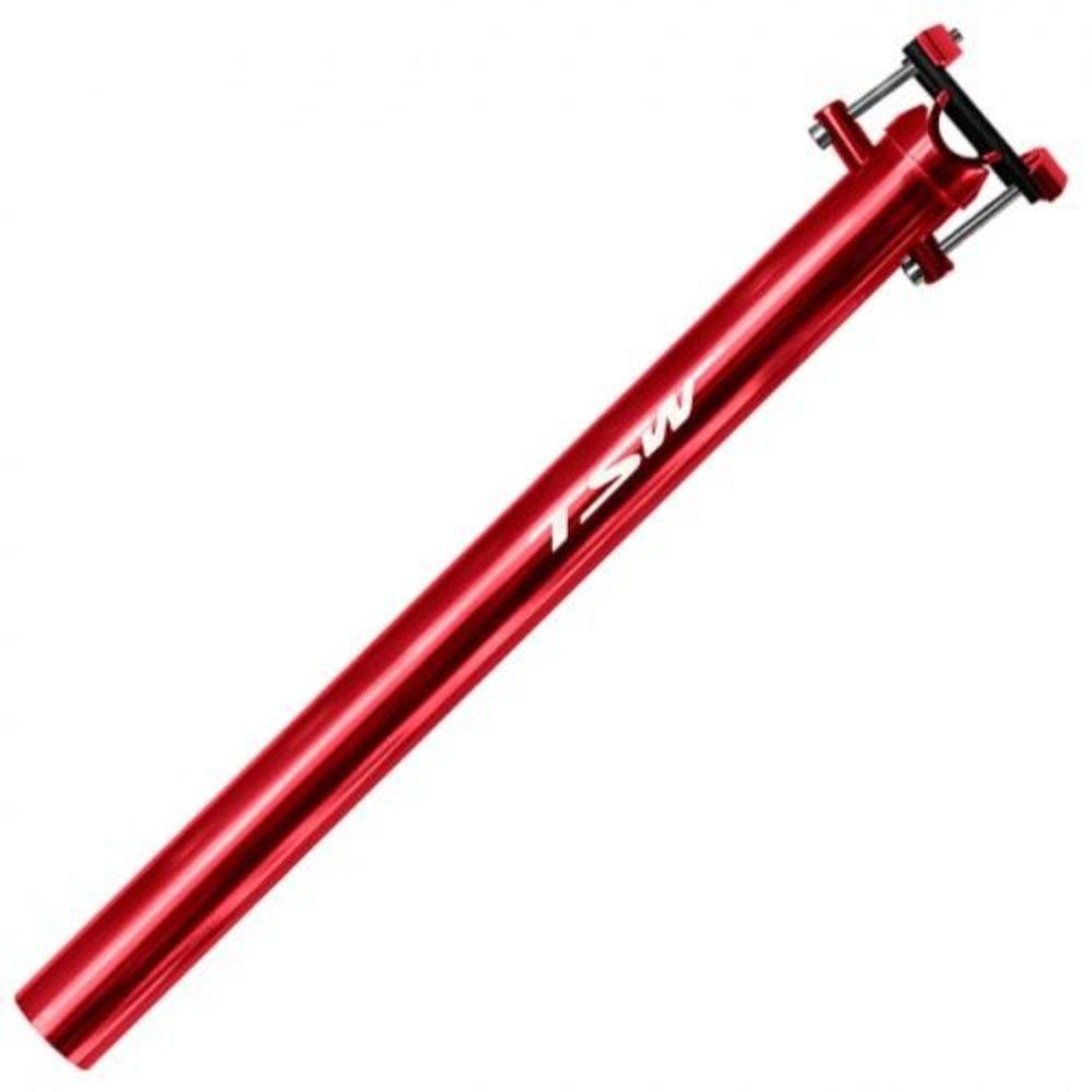 Canote TSW 31.6 Anodizado 400mm Vermelho