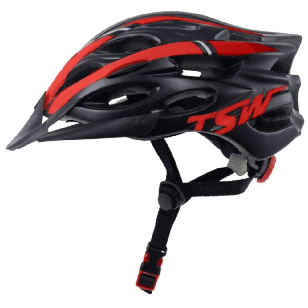 Capacete Tsw Tune Preto e Vermelho Fosco - M/L 57 a 60 CM