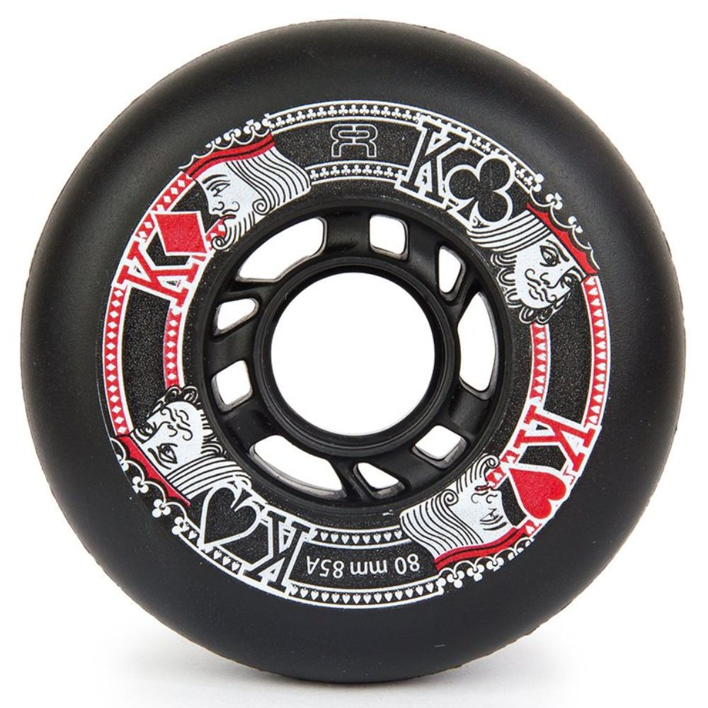 Kit 4 Rodas FR Street Kings 80mm - Preto Fosco