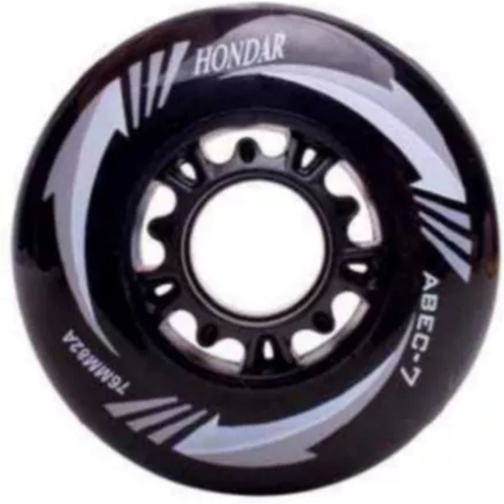 KIT 8 RODA PATINS ROLLER INLINE 76 MM HONDAR