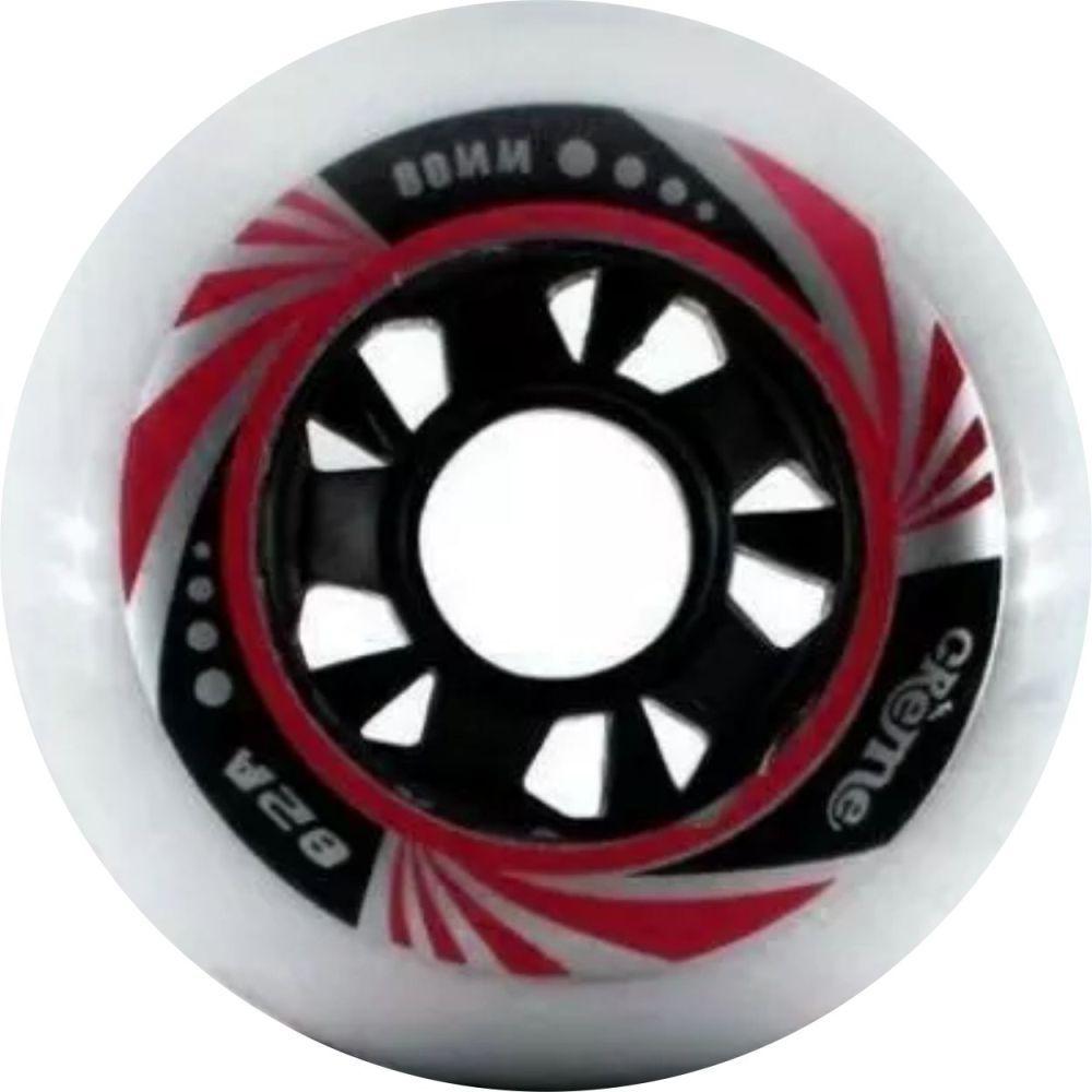 Kit 8 Roda Patins Roller Inline 80mm Crème