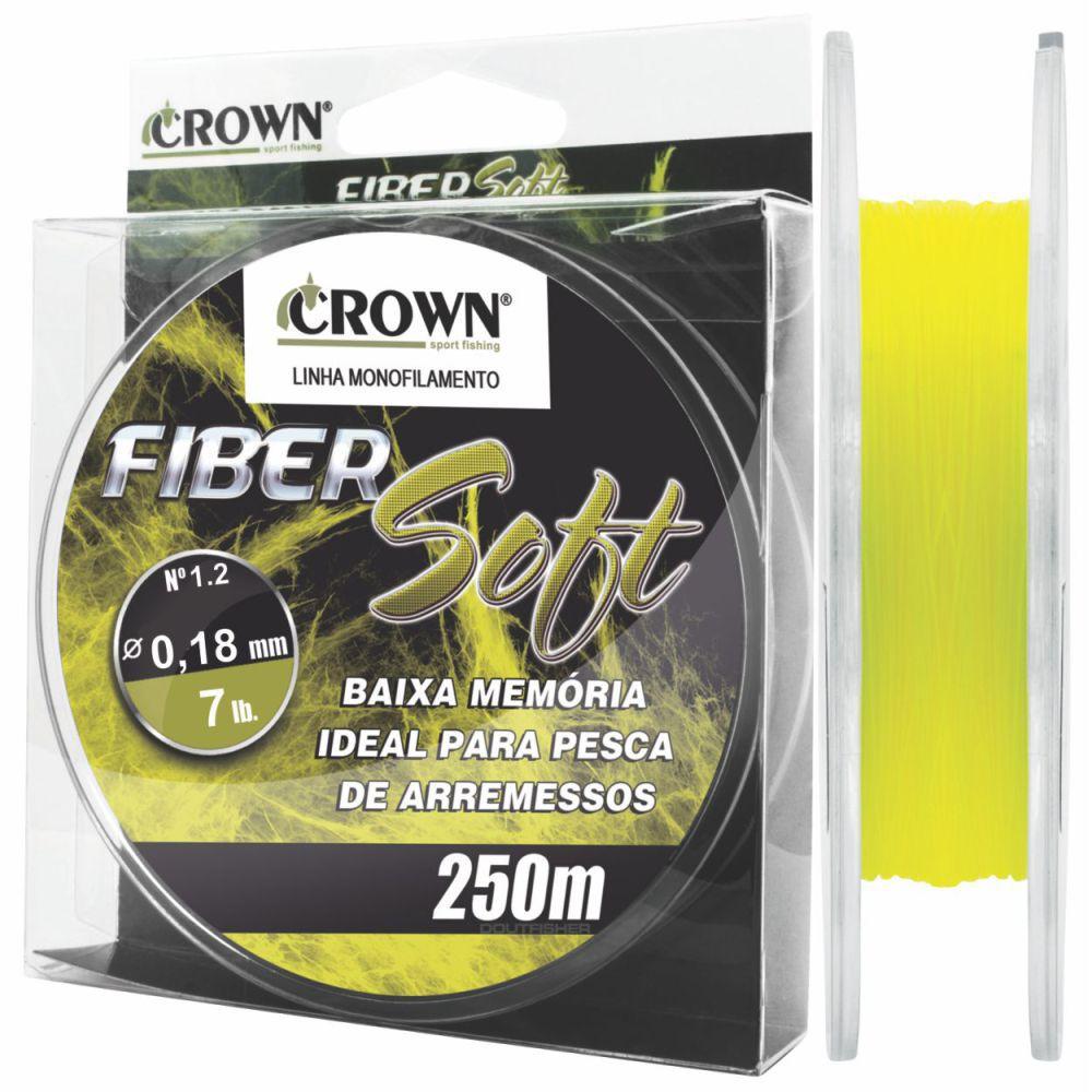 Linha Crown Fiber Soft Amarela 0,18mm - 7lbs 250m