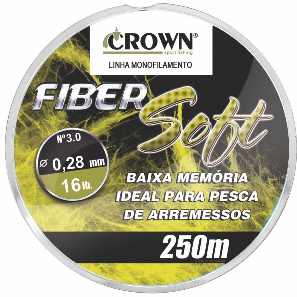 Linha Crown Fiber Soft Amarela 0,28mm - 16 lbs 250m