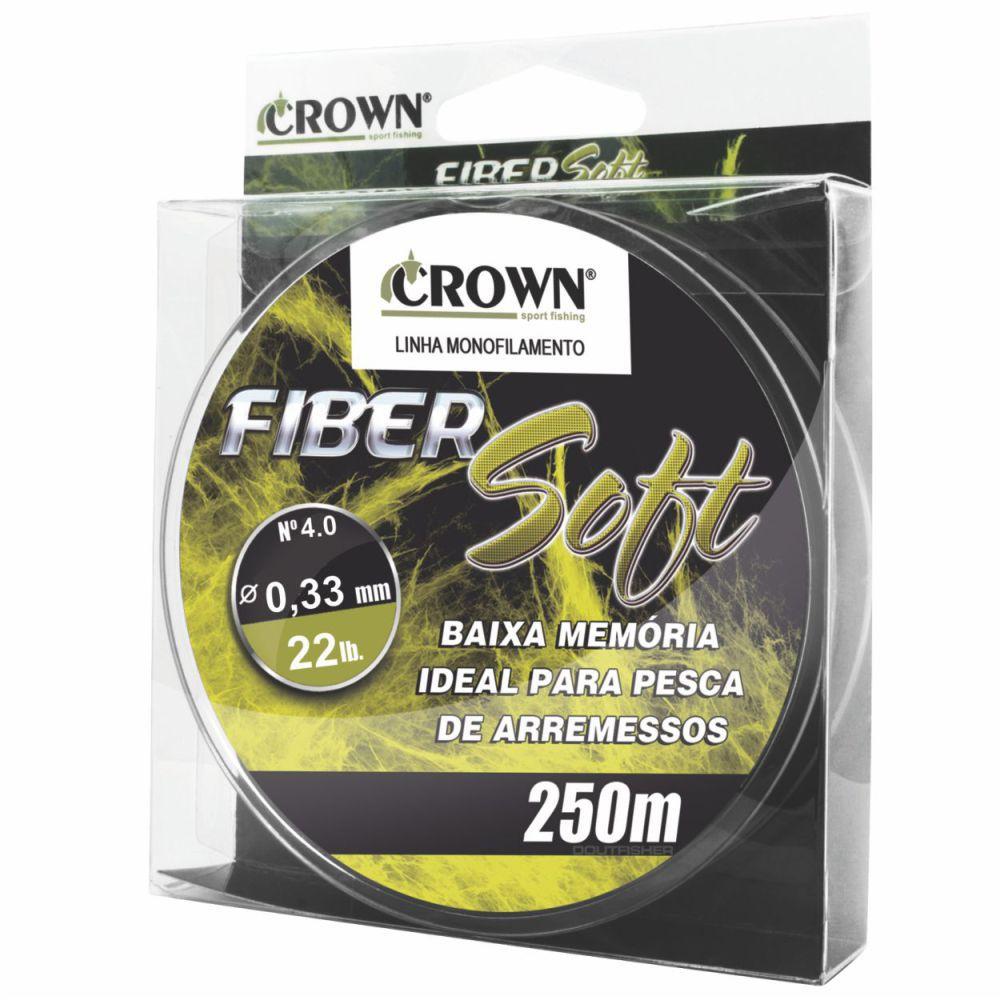 Linha Crown Fiber Soft Amarela 0,33mm - 22 lbs 250m