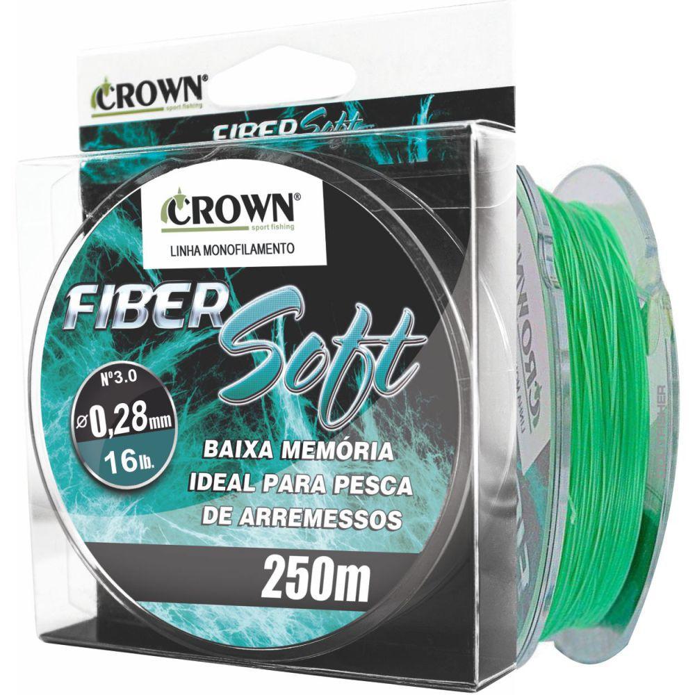 Linha Crown Fiber Soft Verde 0,28mm - 16 lbs 250m
