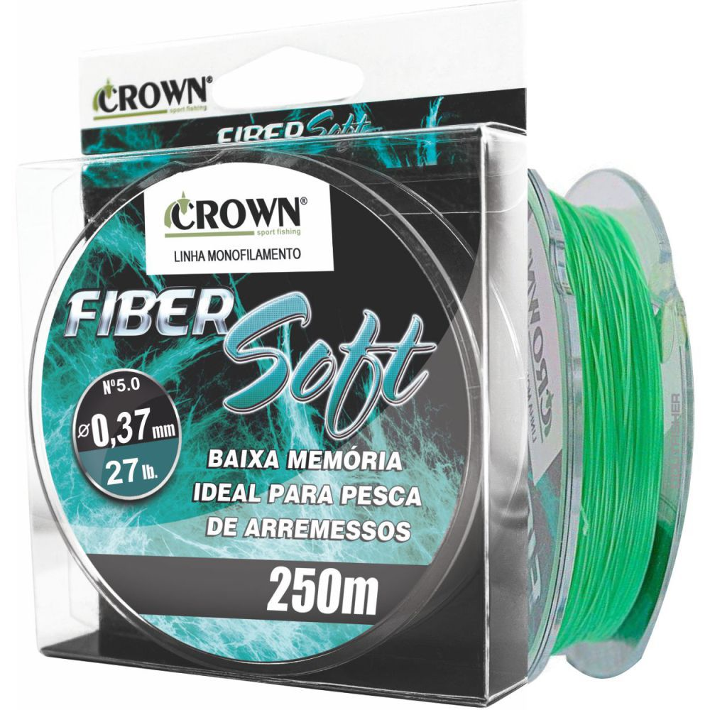 Linha Crown Fiber Soft Verde 0,37mm - 27 lbs 250m