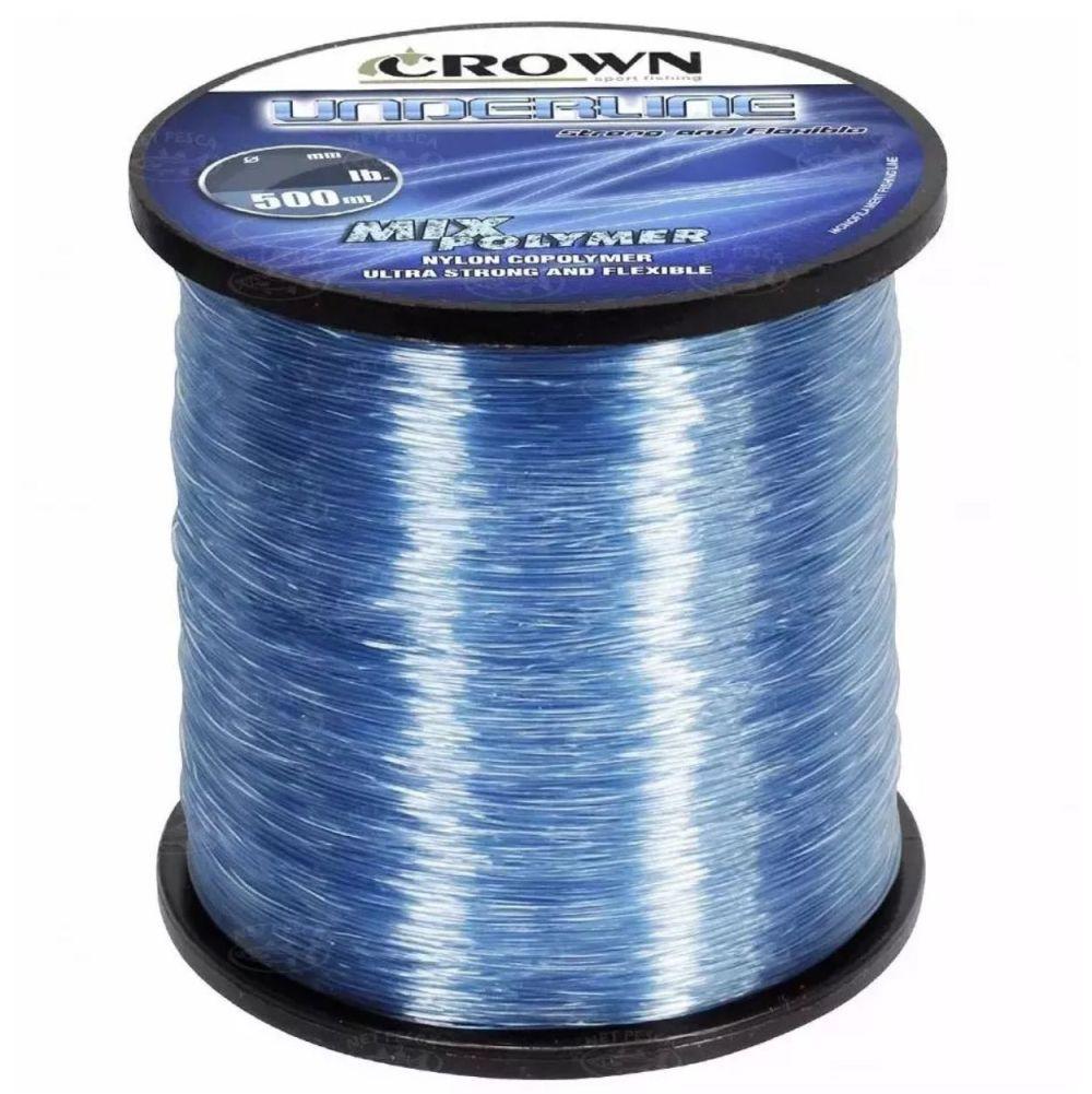 Linha Crown Underline 0,26mm 12lb - 500m Azul