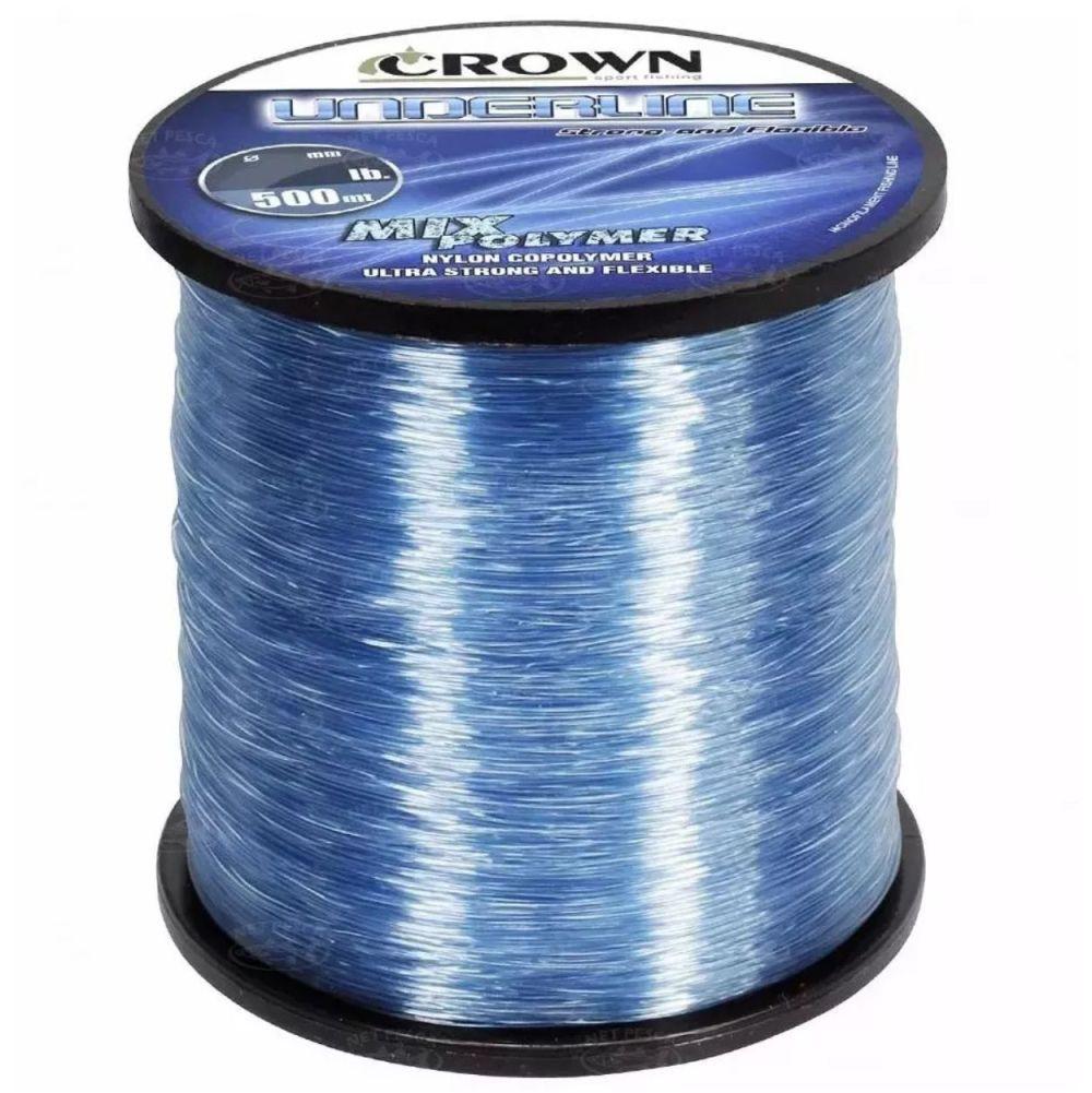 Linha Crown Underline 0,33mm 21lb - 500m Azul