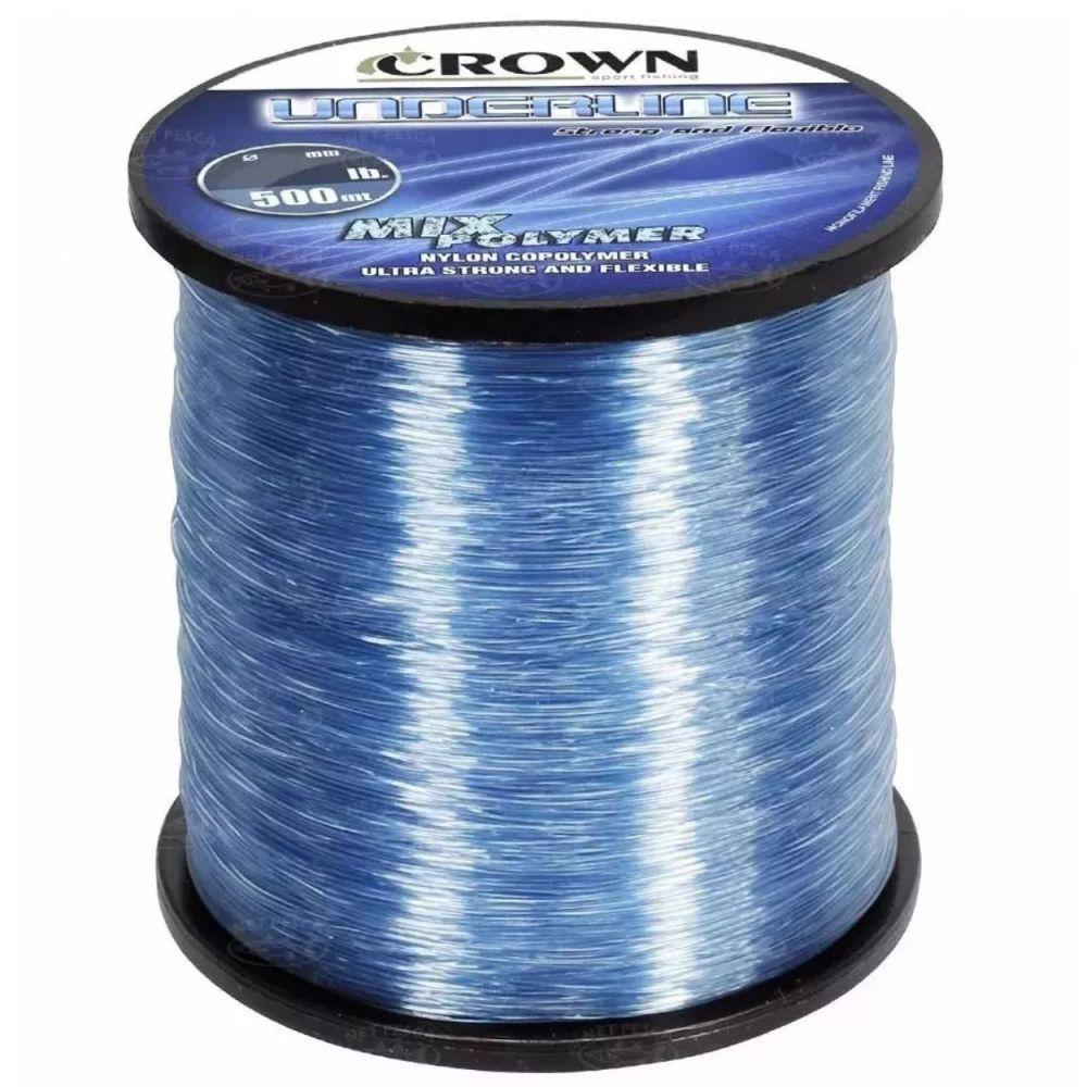 Linha Crown Underline 0,40mm 30lb - 500m Azul