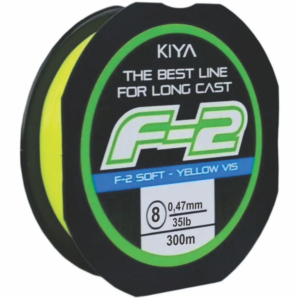 Linha Kiya F-2 0,47mm - 300M - Linha Monofilamento Soft