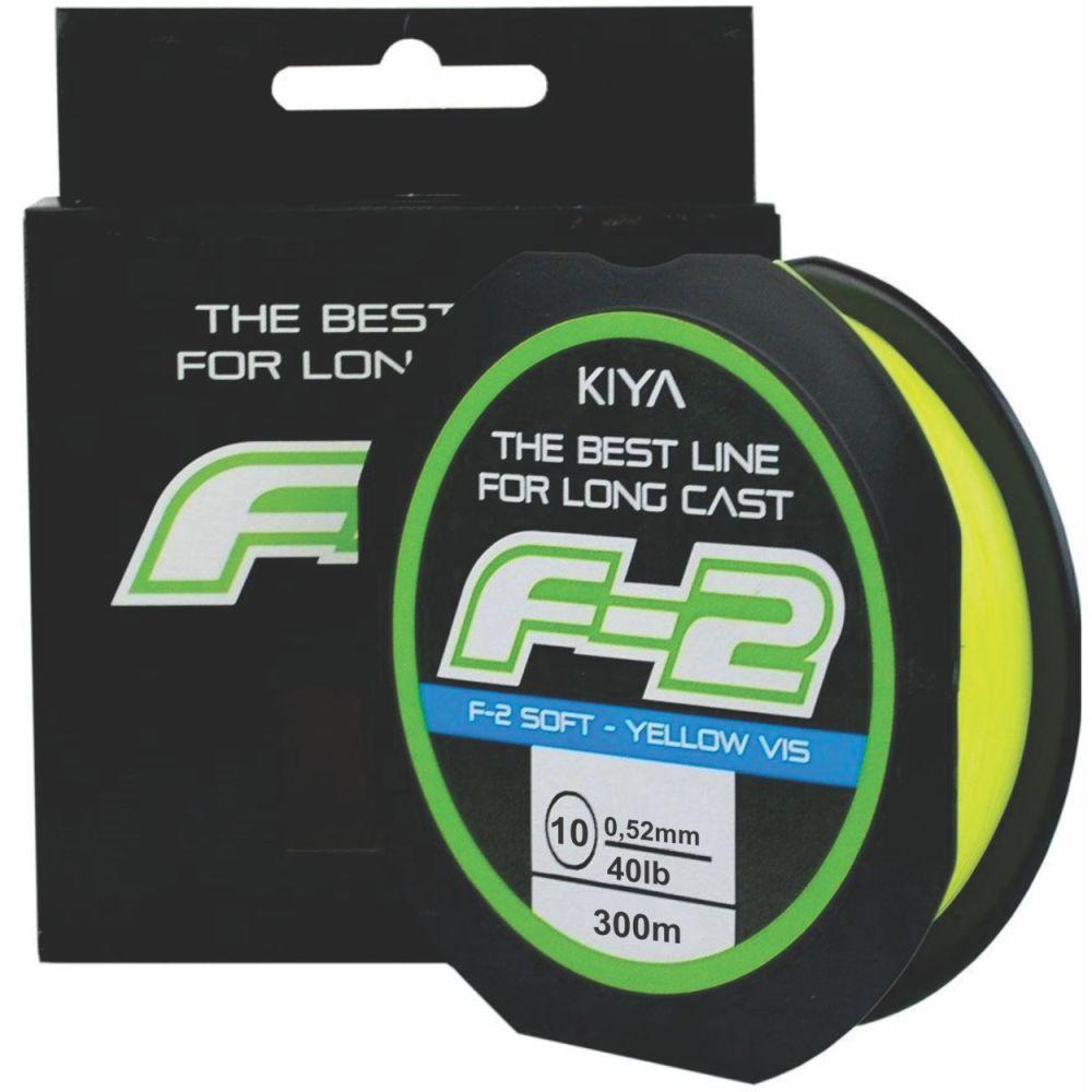 Linha Kiya F-2 0,52mm - 300M - Linha Monofilamento Soft