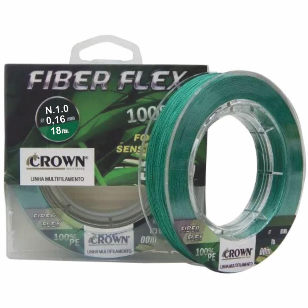 Linha Multifilamento Crown Fiber Flex 0,16mm - 100m