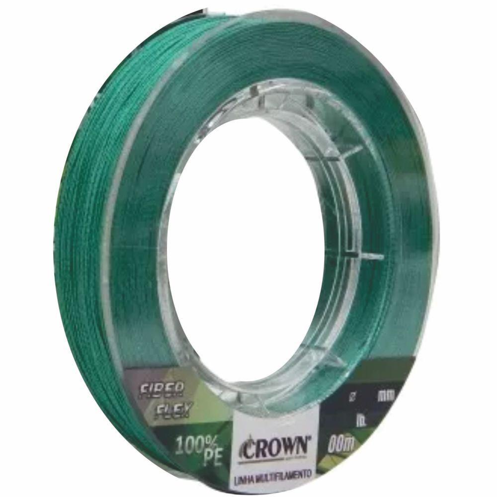 Linha Multifilamento Crown Fiber Flex 0,45mm - 100m