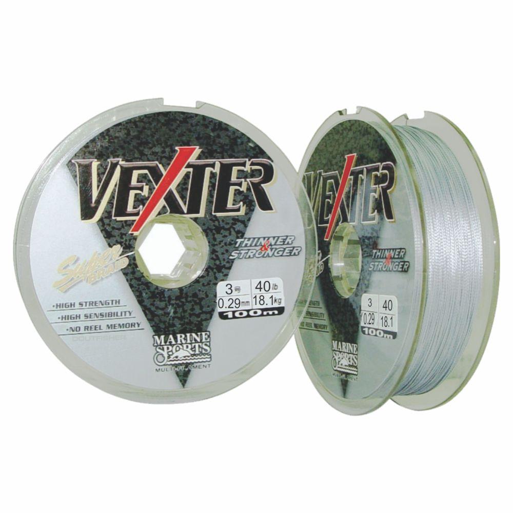 Linha Multifilamento Vexter 0,29mm 40lb Marine Sports Cinza