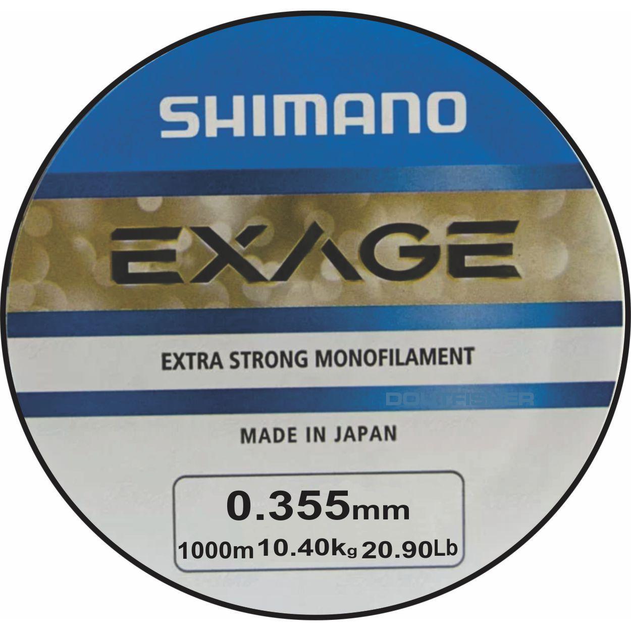 Linha Shimano Exage 0,355mm - 1000m