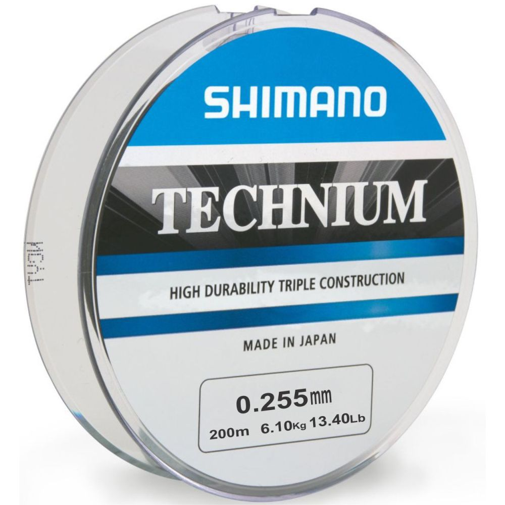 Linha Shimano Technium 0,255mm - 200m