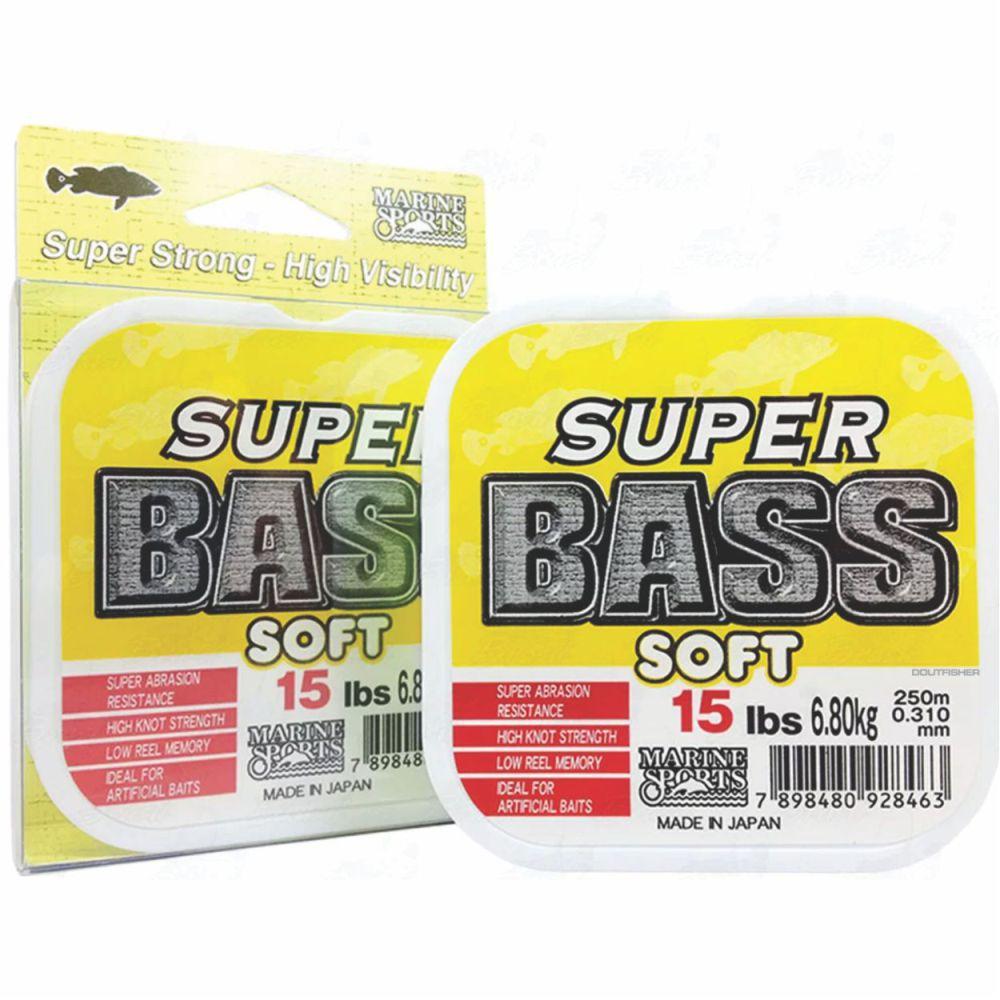 Linha Super Bass Soft 0,310mm 15lb Monofilamento Amarela 250m