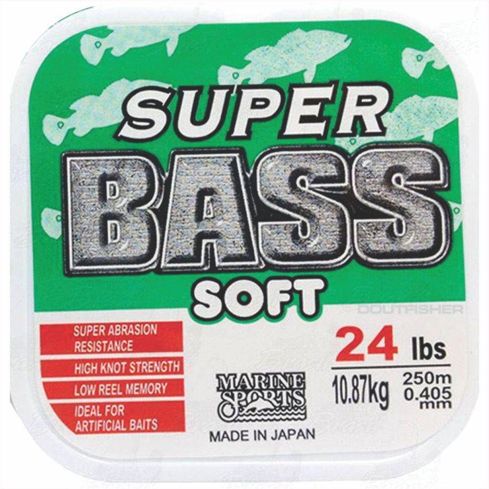 Linha Super Bass Soft 0,405mm 24lb Monofilamento Verde 250m
