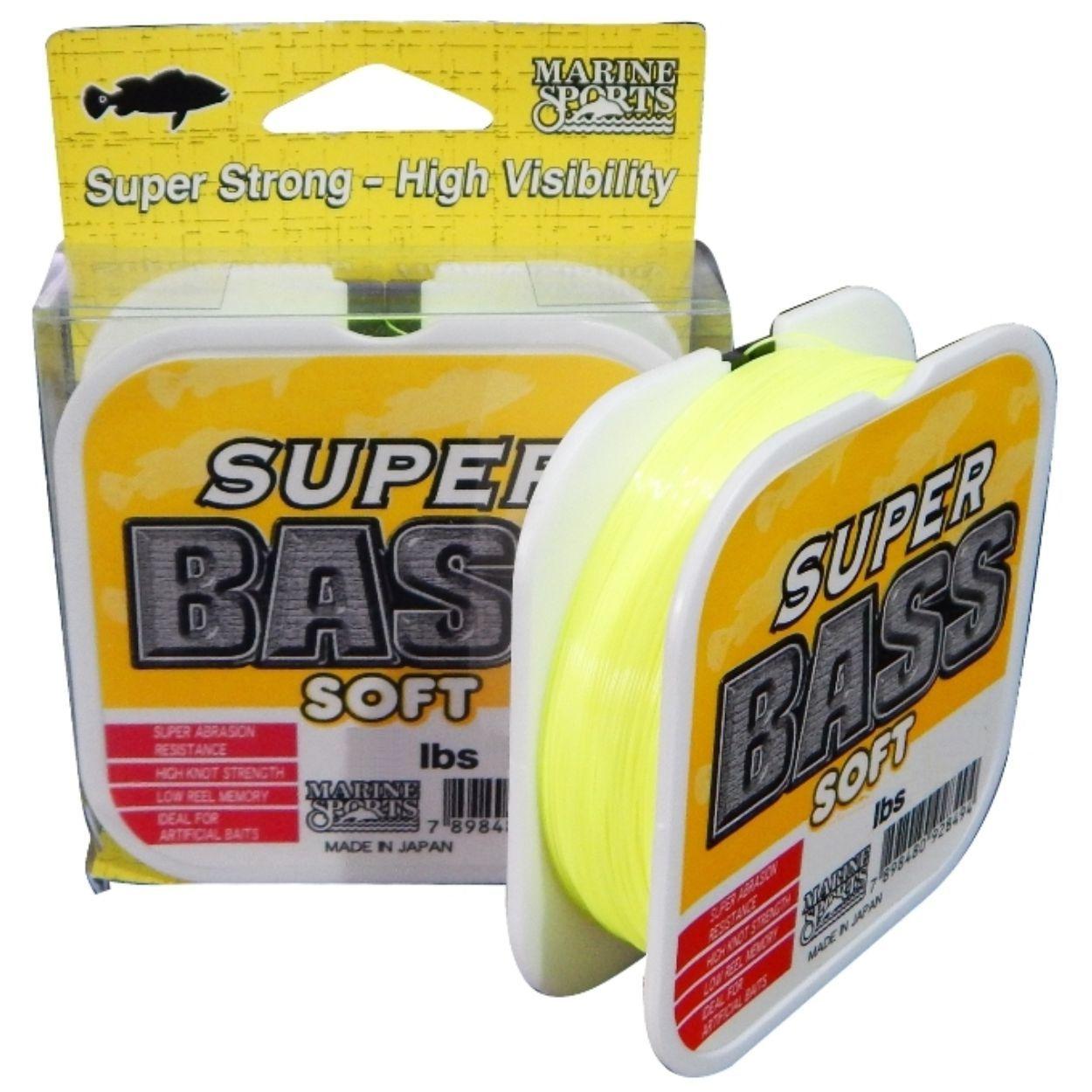 Linha Super Bass Soft Monofilamento 250m Amarela