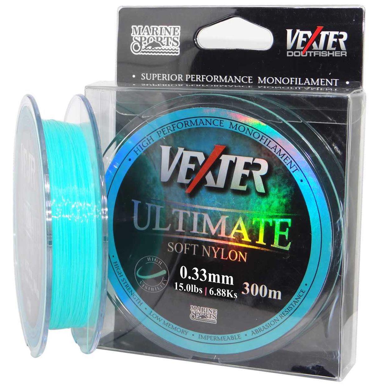 Linha Vexter Ultimate Soft 0,33mm 300m Azul