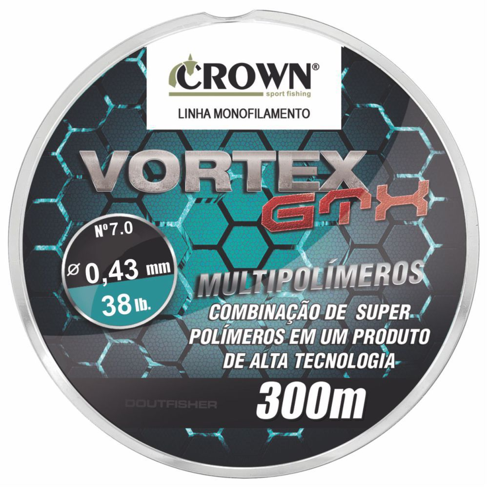 Linha Vortex Gtx Crown 0,43mm - 38lb 300m