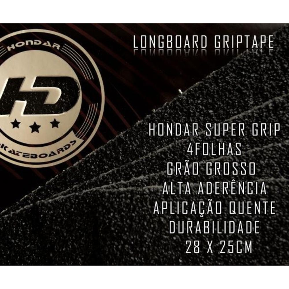 Lixa Super Grip Hondar Grossa Para Longboard - 4 Unid.