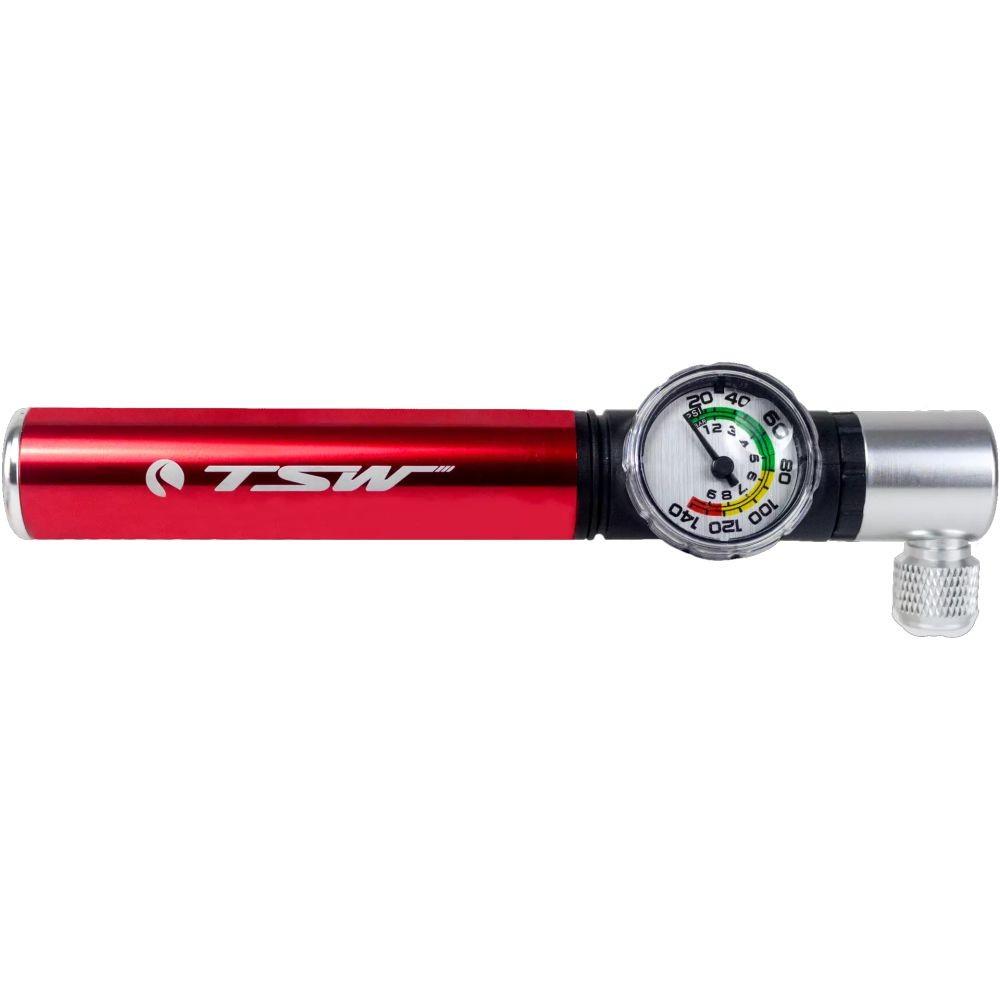 Mini Bomba de Ar TSW Com Manômetro