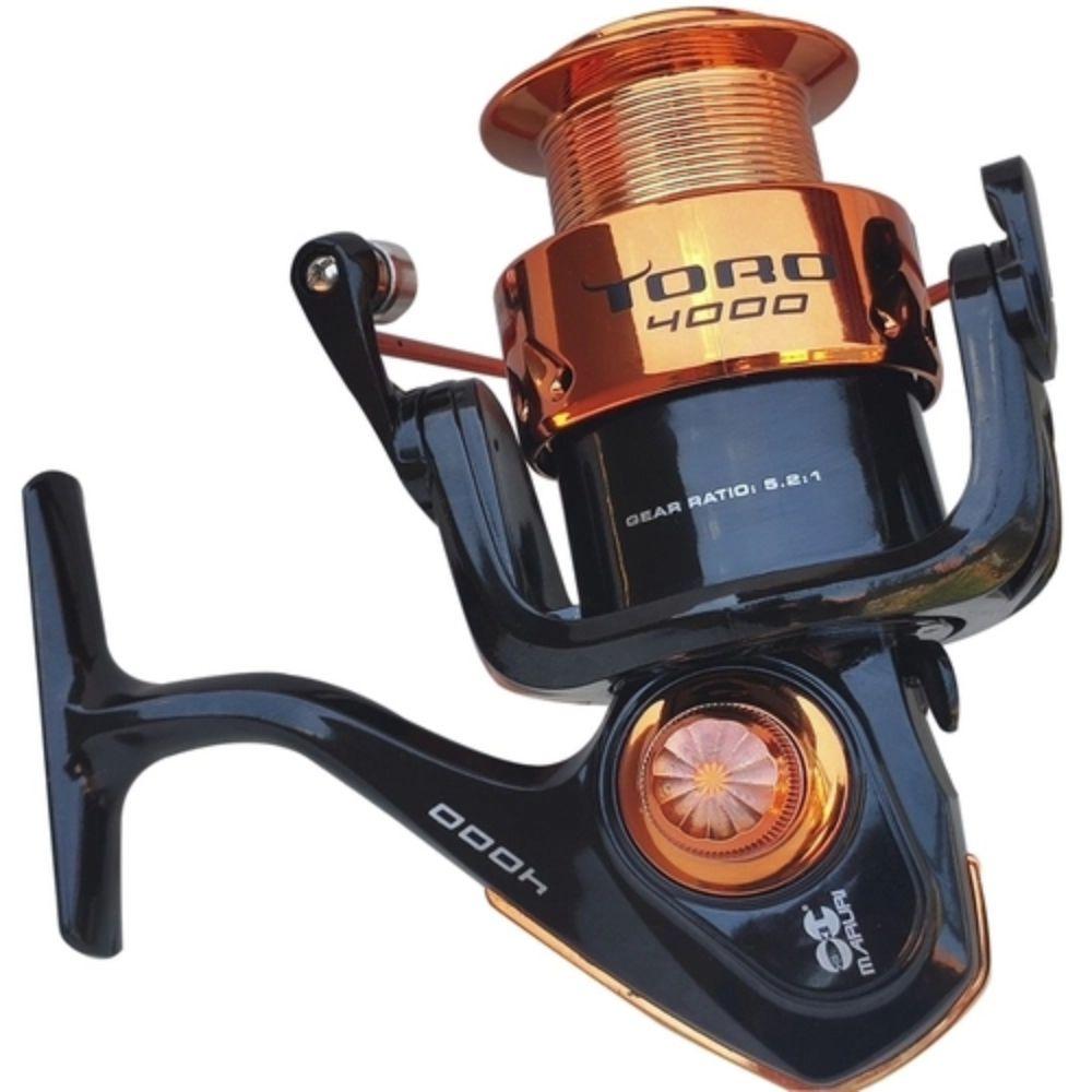 Molinete Maruri Toro 4000 6 Rolamento - Laranja