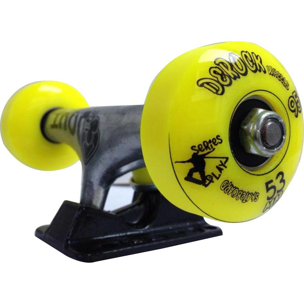 Par De Truck Skate + Roda Skate + Rolamento Skate + Parafuso