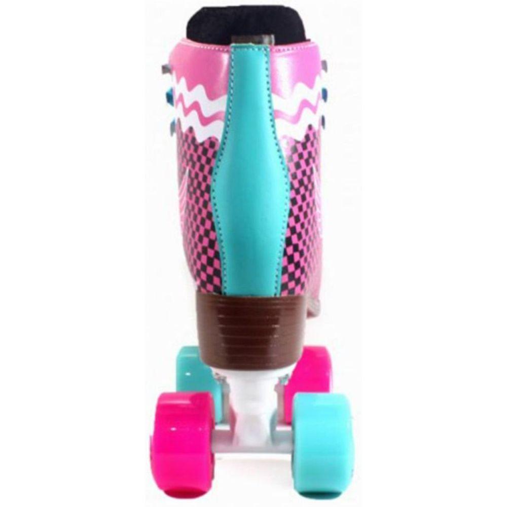 Patins Crème Quad Pink Xadrez 54mm Abec-7 33 BR