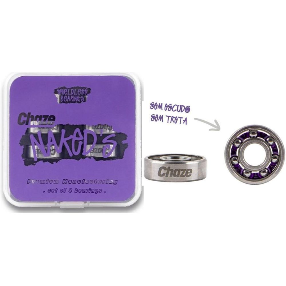 Roda Chaze 53mm 101A Doble + Rolamento Chaze Naked's
