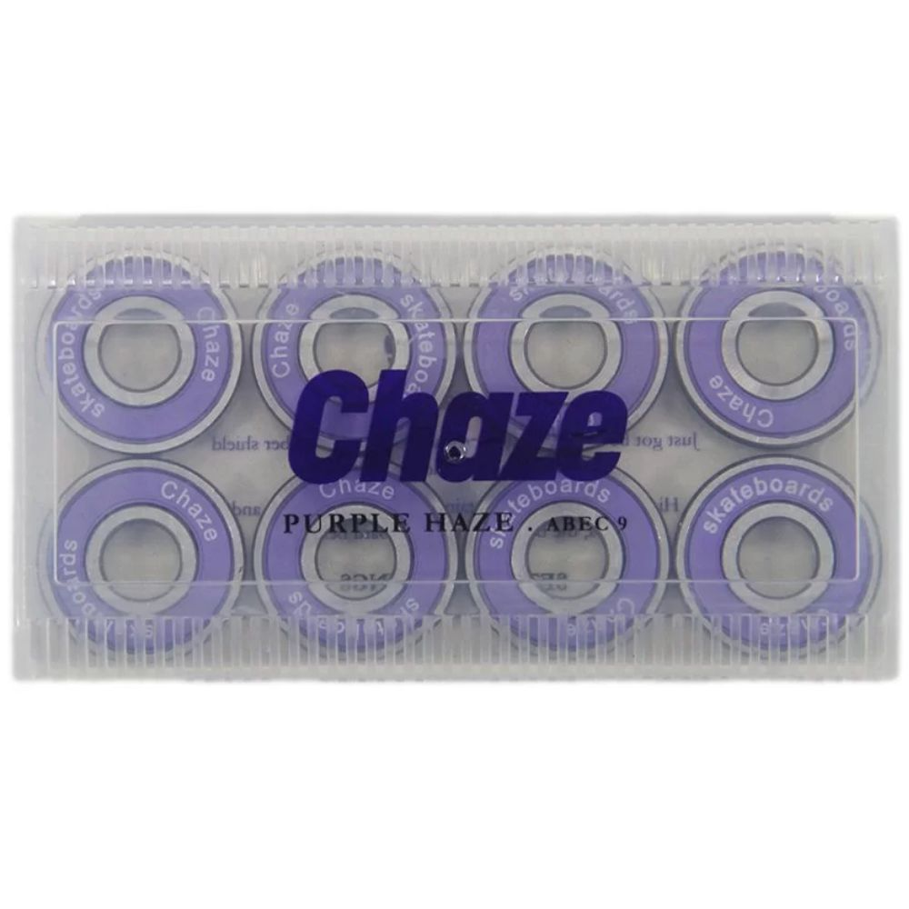 Roda Chaze 53mm 101A Doble + Rolamento Chaze Roxo
