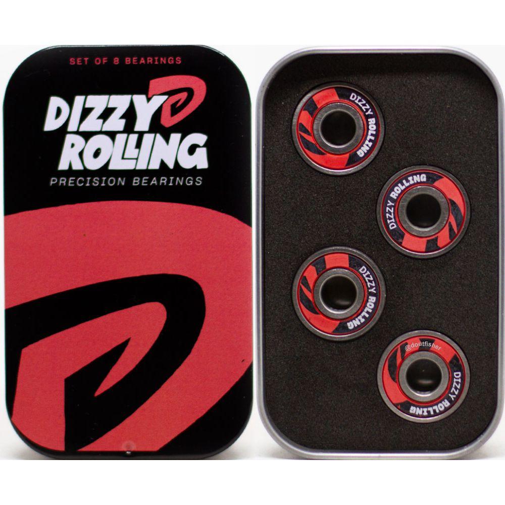 Roda Chaze 53mm 101A Doble + Rolamento Dizzy Rolling