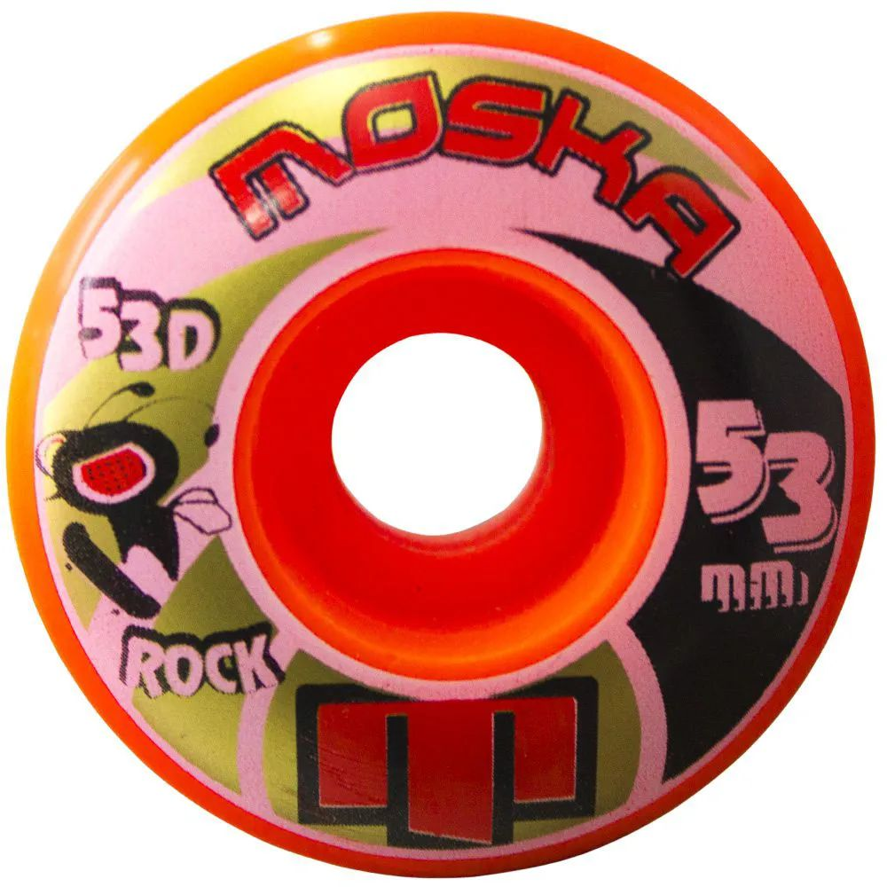 Roda Moska Rock 53mm 53D Laranja
