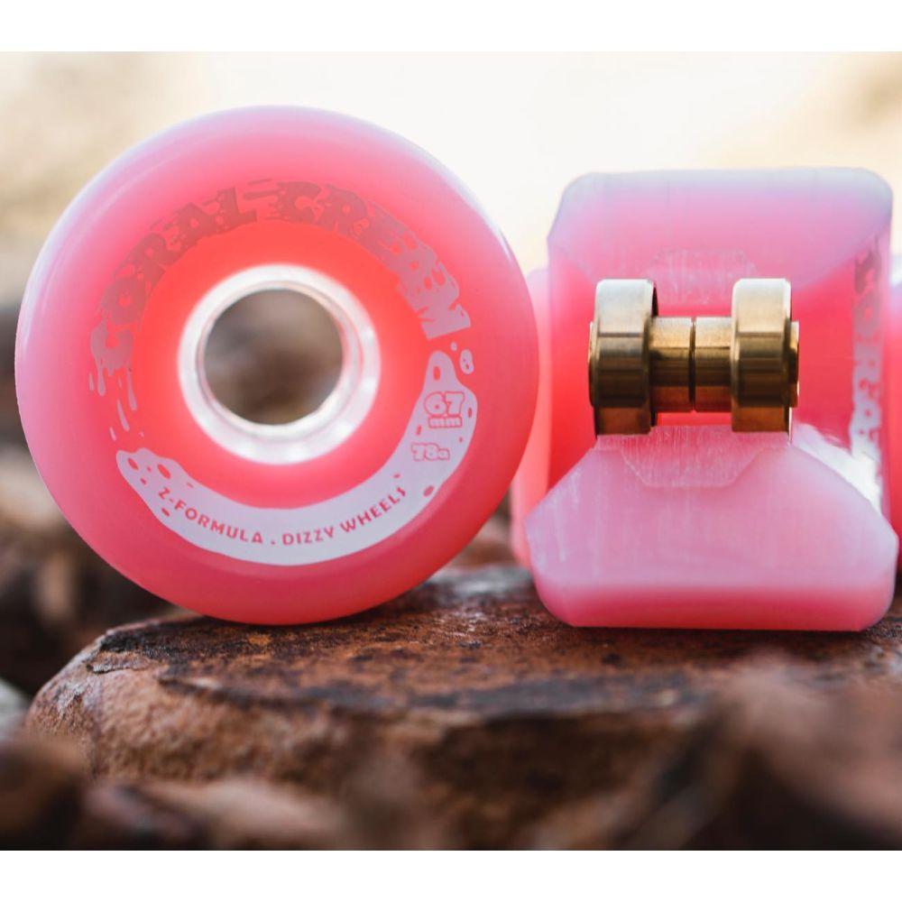 Roda Dizzy Coral Cream 67mm 78A