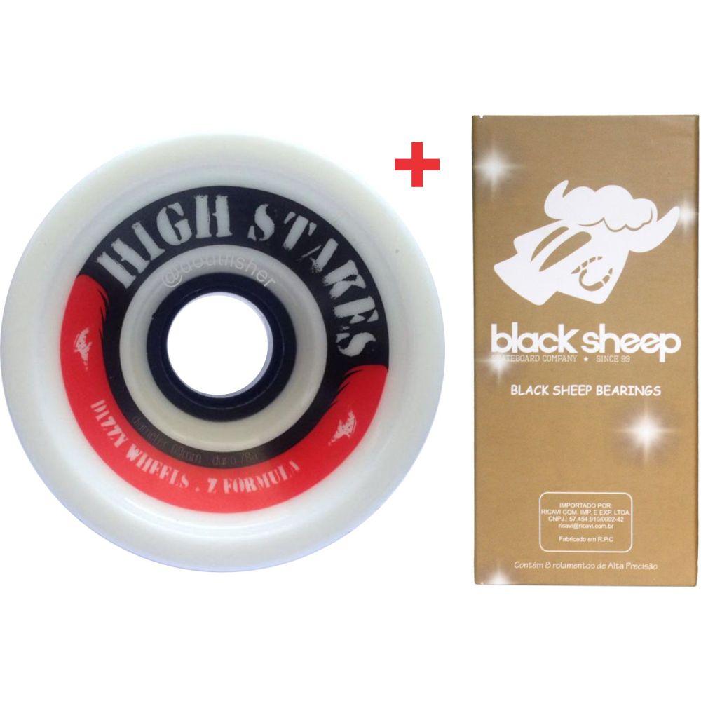 Roda Dizzy High Stakes 69mm 78A + Rolamento Black Sheep Gold